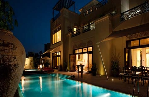 Al Barari Luxury Villa Dubai, UAE Pool Lites in Stainless Steel